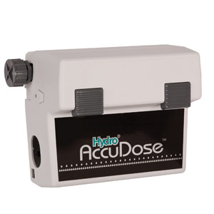 AccuDose dispensers are an economical way to dispense automatically diluted solutions into spray bottles, buckets or other containers at the touch of a button.