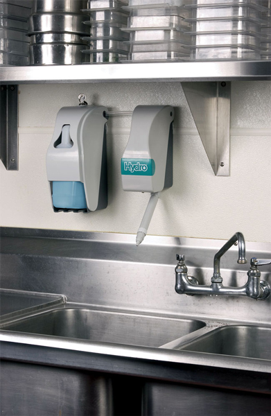 MultiDose Dispensing Unit Installed Next to a Sink